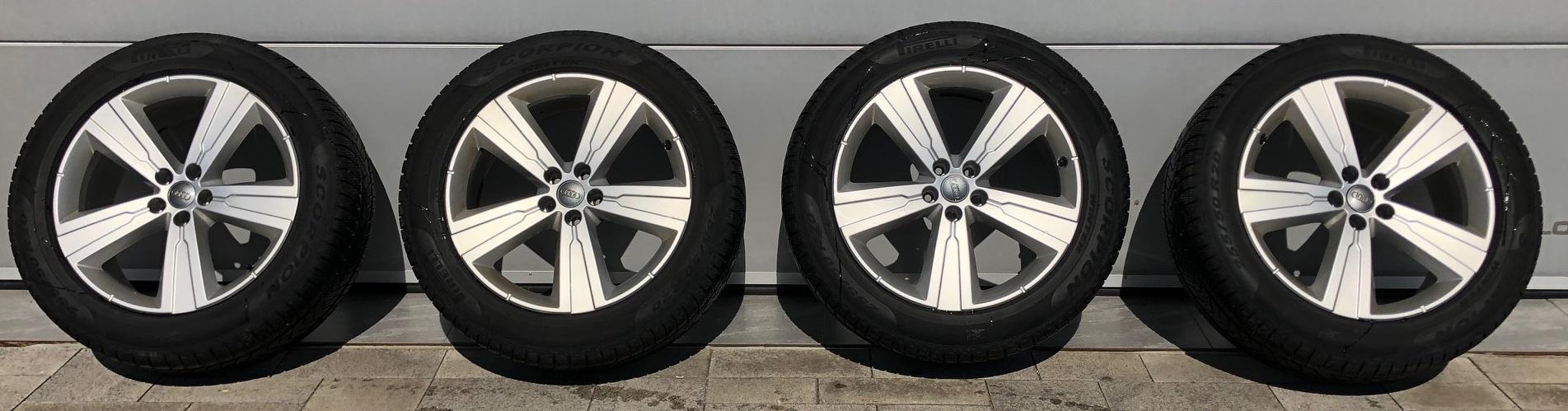 Pirelli   Originalní zimní kola Audi q7/sq7 + Zimní pneu Pirelli SCORPION WINTER AO XL 255/50 R20 10