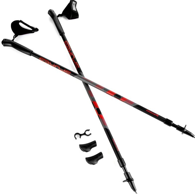 SPOKEY | Spokey Zigzag II Hole Nordic Walking Black/Red 20/21 | UNI